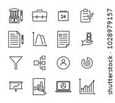 set of strategy thin line icons.... | Shutterstock .eps vector #1028979157
