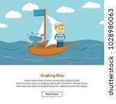 singking ship job information | Shutterstock .eps vector #1028980063