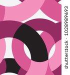 Pink Abstract Circles Seamless...