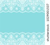 horizontally seamless mint lace ... | Shutterstock .eps vector #1029001537