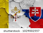 flag of vatican and slovakia...   Shutterstock . vector #1029002557