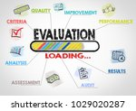 evaluation concept. chart with... | Shutterstock . vector #1029020287