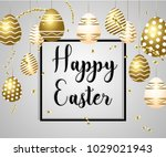 easter vector illustration with ... | Shutterstock .eps vector #1029021943
