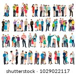 isolated isometric people set... | Shutterstock .eps vector #1029022117