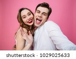 photo of cheerful man and woman ... | Shutterstock . vector #1029025633
