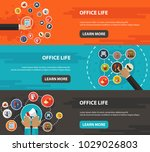office life flat icon concept.... | Shutterstock .eps vector #1029026803