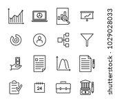 modern outline style freelance... | Shutterstock .eps vector #1029028033