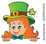 lurking leprechaun girl theme 1 ... | Shutterstock .eps vector #1029041653