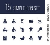 set of 15 baby icons set....   Shutterstock . vector #1029048007