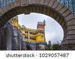 pena palace in sintra  portugal | Shutterstock . vector #1029057487