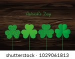 petals of clover with the image ... | Shutterstock .eps vector #1029061813