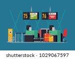 cool vector background on... | Shutterstock .eps vector #1029067597