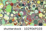 circles abstract style colorful ... | Shutterstock . vector #1029069103