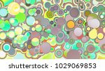 circles abstract style colorful ... | Shutterstock . vector #1029069853