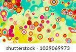 circles abstract style colorful ... | Shutterstock . vector #1029069973