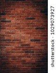 red brick wall texture grunge... | Shutterstock . vector #1029073927