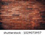 red brick wall texture grunge... | Shutterstock . vector #1029073957