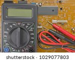 electrical engineer on during... | Shutterstock . vector #1029077803