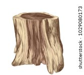 thick stump in the form of... | Shutterstock .eps vector #1029080173