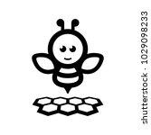 bee hive black white   Shutterstock .eps vector #1029098233