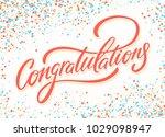 congratulations. greeting card. | Shutterstock .eps vector #1029098947