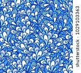 seamless pattern with bushy...   Shutterstock .eps vector #1029103363