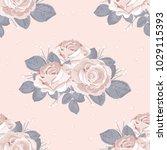 retro floral seamless pattern.... | Shutterstock .eps vector #1029115393