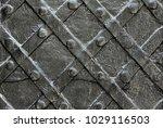black forged iron door for...   Shutterstock . vector #1029116503