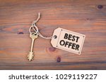 best offer. key and a note on a