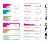 set of simple web banner... | Shutterstock .eps vector #1029119593