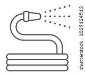 garden hose thin line icon ...   Shutterstock .eps vector #1029124513