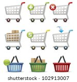 shopping cart and basket | Shutterstock .eps vector #102913007