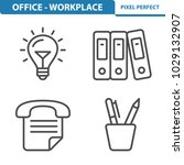 office   workplace icons....   Shutterstock .eps vector #1029132907