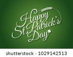 patrick day vintage lettering... | Shutterstock .eps vector #1029142513