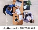 business colleagues working... | Shutterstock . vector #1029142573
