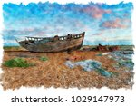 watercolour painting of an...   Shutterstock . vector #1029147973