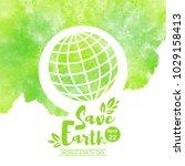 world earth day illustration.... | Shutterstock .eps vector #1029158413