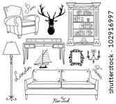 set of furniture icons  living... | Shutterstock .eps vector #102916997