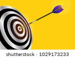 dart arrow hitting center of... | Shutterstock .eps vector #1029173233