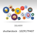 delivery flat icon concept.... | Shutterstock .eps vector #1029179407