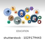 education flat icon concept.... | Shutterstock .eps vector #1029179443
