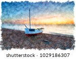 watercolour painting of a...   Shutterstock . vector #1029186307