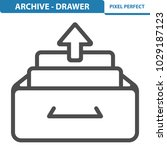 archive   drawer icon.... | Shutterstock .eps vector #1029187123