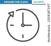 around the clock icon.... | Shutterstock .eps vector #1029187147