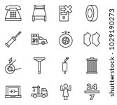 flat vector icon set   phone... | Shutterstock .eps vector #1029190273
