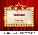 cinema golden rectangular frame ... | Shutterstock .eps vector #1029191857