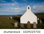 the church at mwnt dates back... | Shutterstock . vector #1029225733