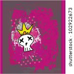 hand drawn emo skull vector on...   Shutterstock .eps vector #102922673
