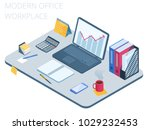 flat isometric illustration of... | Shutterstock .eps vector #1029232453