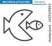 big fish   little fish icon.... | Shutterstock .eps vector #1029239893